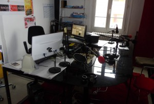 Le studio d'enregistrement d'OTORADIO